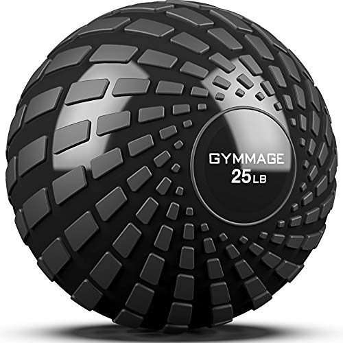 GYMMAGE Slam Ball, Weighted Ball for Exercise, 10, 15, 20, 25, 30, 40, 50lbs Exercise Slam Medicine Ball for Strength and Crossfit & Conditioning Training Home Gym Workout, with Easy-Grip Surface