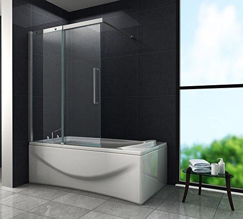 Schiebetür - Duschtrennwand DOZE 120 x 150 (Badewanne)
