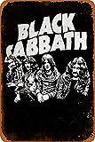 N/ A Black Sabbath Blechschild Retro Metall Wanddekor Tin