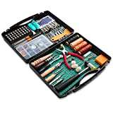 273 Pieces Leather Working Tools and Supplies, Leather Tools Kit with Tool Box Hammer Stamping Tools Needles Snaps and Rivets Kit Perfect for Stitching Punching Sewing