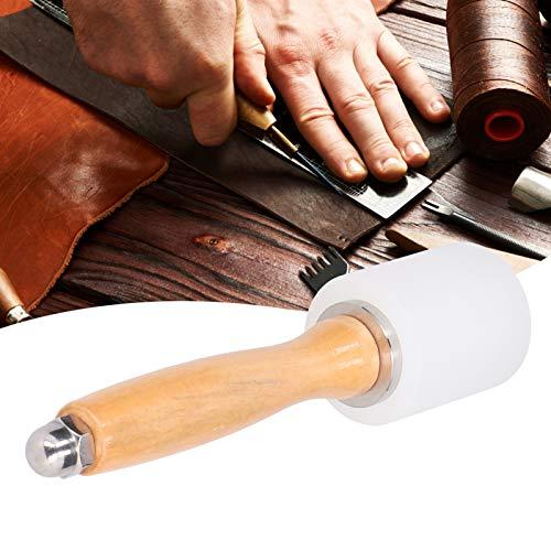 Mazo de cuero Martillo de artesanía en cuero Martillo de talla de cuero Perforadoras para grabado de cuero(Primary color handle single head, blue)