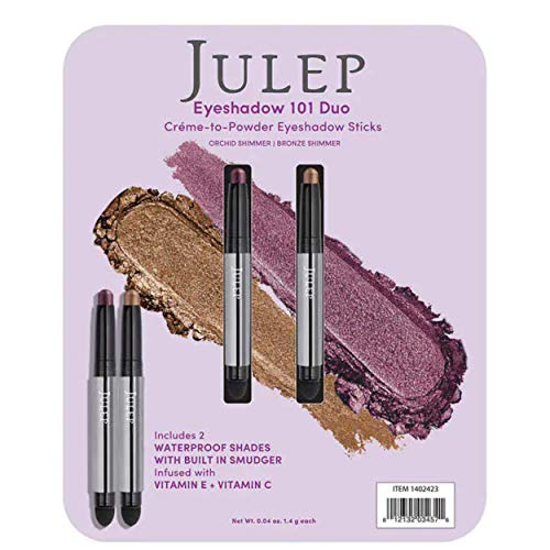 Julep Crème to Eyeshadow Stick Duo - Orchid Shimmer and Bronze Shimmer