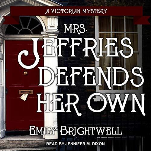 Mrs. Jeffries Defends Her Own audiobook cover art