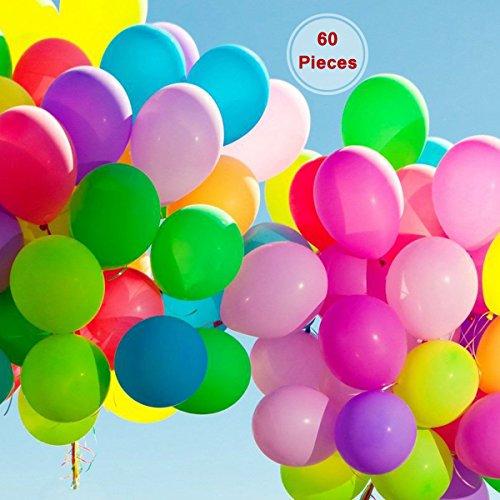 60 pièces Jumbo Metallic Party Balloon – Anniversaire Cérémonie fête religieuse Décoration 22,9 cm Ballons en latex