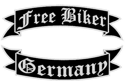 Aufnäher Free Biker Germany oberere Schwinge & untere Schwinge 35cm