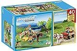 Playmobil Vida en la Montaña - Country Prado con Poni y Carreta (Playmobil Set Aniversario) Muñecos y Figuras, Color Multicolor (Playmobil 5457)