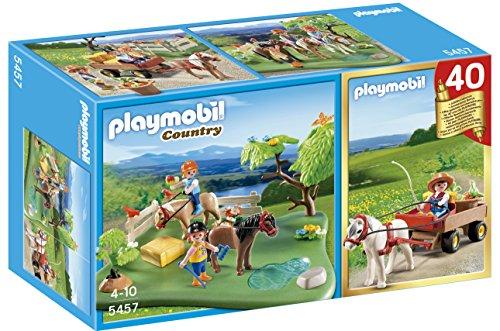 Playmobil Mountain Life - Country Meadow met Pony en Cart (Playmobil Set Anniversary) Poppen en figuren, Kleur Multicolor (Playmobil 5457)