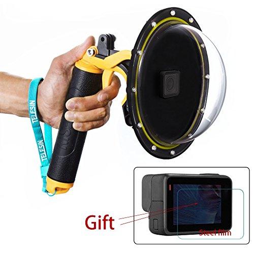 Estuche impermeable con puerto de domo para GoPro Hero 5 6 7 2018, cubierta de lentes con pistola de disparo para accesorios de buceo con lente de cámara GoPro (For GoPro Hero 5 6)
