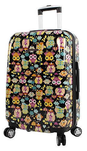 Lily Bloom Hardside 20' Carry On Design Pattern Spinner Luggage For Woman (20in, What A Hoot)
