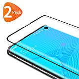 Bewahly Cristal Templado para Samsung Galaxy S10 [2 Piezas], 3D Curvado Completa Cobertura Protector Pantalla, 9H Dureza Alta Definicion Vidrio Templado Sin Burbujas para Samsung Galaxy S10 (Negro)