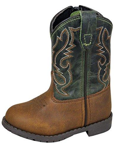 Smoky Mountain Toddlers Brown/Green Hopalong Western Cowboy Boot,7 M US Toddler