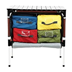 COOLER STORAGE BAGS: Blue organizer is lined for use as cooler or sink, three other internal foam padded organizers. The four padded bags keep snacks, drinks, groceries and barbecue sauce organized. MULTIFUCTIONAL DESIGN: Detachable legs are perfect ...