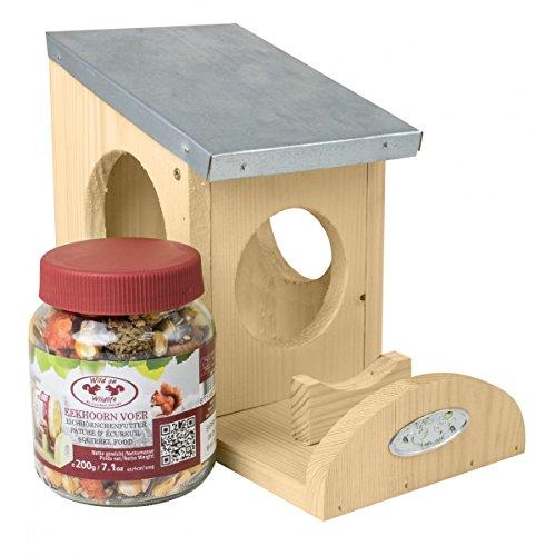 Esschert Eichhörnchen Futterhaus inkl. Futter