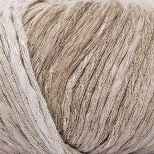 ggh Manila Degradé - 006 - Oliva caqui - Algodón con lino para tejer y hacer ganchillo