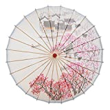 THY COLLECTIBLES Rainproof Handmade Chinese Oiled Paper Umbrella Parasol 33' Village Scenery