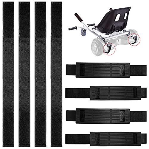 Hoverboard Kart Correas - 4 Pares, Protector para Hover Go Kart Silla Accesorios Reemplazo De Gancho Y Lazo