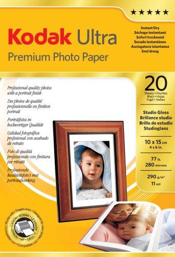 Kodak Ultra Premium Photo Papier (290g) 10 x 15 cm 20 Blatt studio gloss