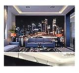 3D Wallpaper Wall Promotion Chicago Night View New York Lights Night Wallpaper Hd Digital Print Wallpaper 320X220Cm(125.98X86.61 In)