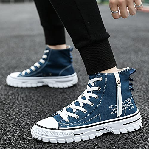 N\C Autumn Men's Shoes Trendy Men's Canvas Martin Boots Men's High-Top Sneakers All-Match Casual Trendy Shoes