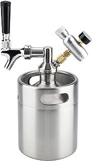 Bewinner 2L Mini Barril de Cerveza a Presión para Fermentar