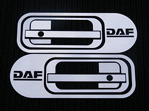 2-Set polierter Edelstahl Tür Griff Panel Dekorationen für DAF XF 95/105Trucks