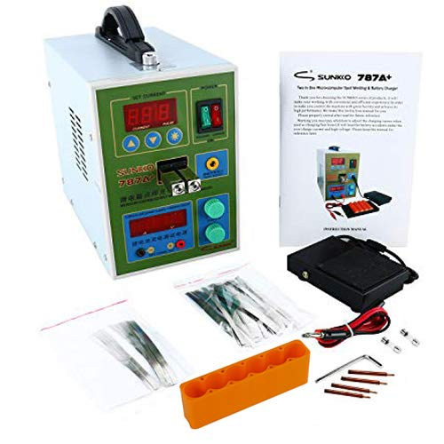 SUNKKO 220V 787A+ Spot Welder Battery Welder Applicable Notebook and Phone Battery Precision Welding Pedal Recharge Charging Capability Charger 220V