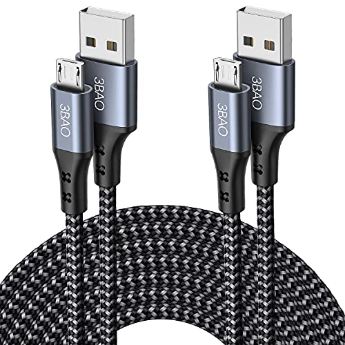 Micro USB Cable,2Packs 1M 2M USB A to Micro Charging Cable Braided Android...