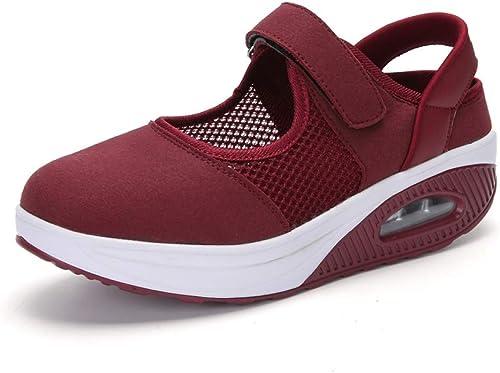 KDFJF Summer femmes Flat Platform chaussures Woman Décontracté Air Mesh Breathable