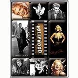 Nostalgic Art Magnet-Set 9-teilig, Celebrities - Hollywood, Kleine