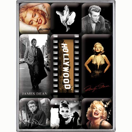 Nostalgic Art Magnet-Set 9-teilig, Celebrities - Hollywood, Kleine