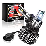 NOVSIGHT 9006/HB4 LED Headlight Bulbs, 12000 Lumens Low Beam 300% Brighter Super Bright Conversion Kits, IP68 Waterproof 6500K Cool White, Extremely Fast Cooling Halogen Replacement
