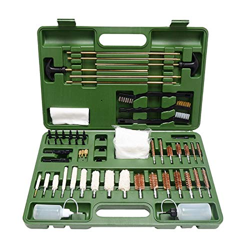 Upgraded Version Gun Cleaning Kit Universal Supplies for Hunting Rilfe Handgun Shot Gun Cleaning Kit for All Guns with Case
