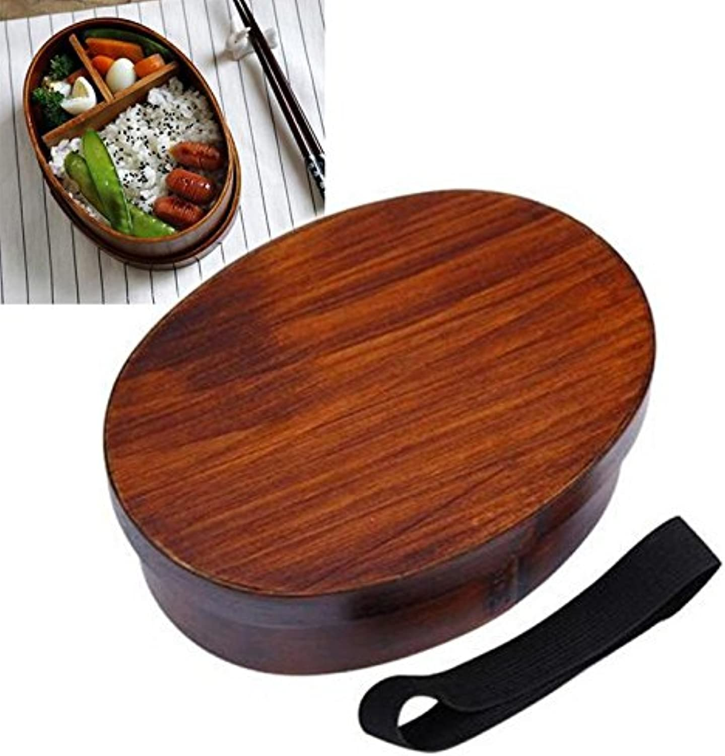 Japanese Style Bento Boxes Wood Lunchbox Handmade Wooden Sushi Tableware Bowl Food Container