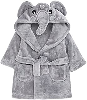 Babytown Baby Boys /& Girls Soft Plush Fleece Dressing Gown White 0-6 Months