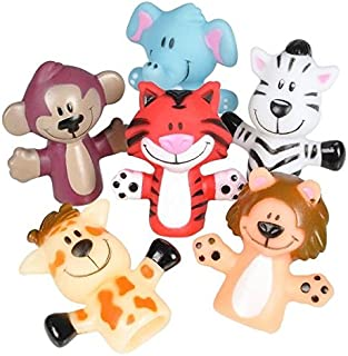 Kicko Animal Finger Puppets - 12 Per Package - Fun Toy for Boys and Girls - Gifts And Party Favors