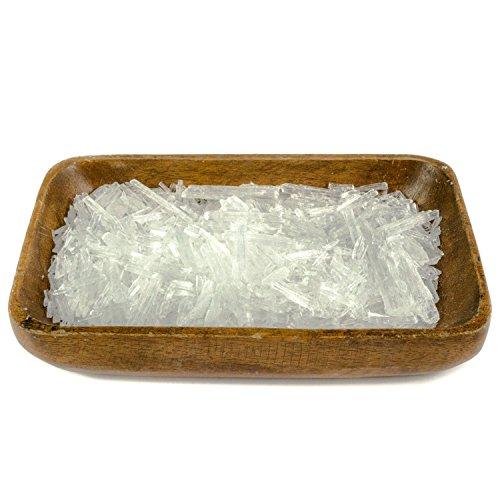 DIYer® - Mentholkristalle - PREMIUM Qualität - Saunakristalle Eiskristalle – aus 100% reinem Minzöl - für Sauna Aufgüsse - große Menthol Kristalle - 100g