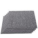 20 Stück Teppichfliesen Selbstliegend, Fliesen Teppiche je 50x50 cm Teppichboden, Bodenfliesen mit Rutschhemmendem Rücken, Gesamtfläche 5 m² (Dunkelgrau)