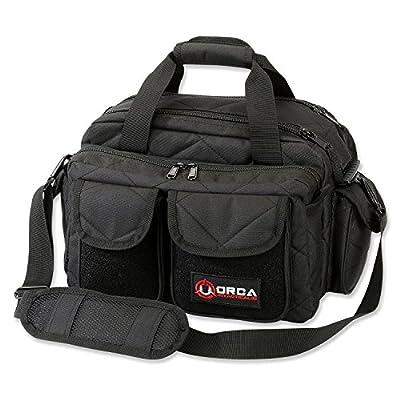 Orca Tactical Gun Shooting Range Bag Handgun Pistol and Ammo Duffle Carrier (Black)