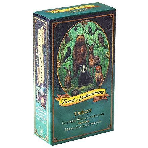 78 Karten/Magic Forest Tarot, Prognostizierung zukünftiges Schicksal, Game Board Poker-Kartengitterhandbuch, Katarot-Lied der Seele, primitiver Dschungel-Tarot, Board-Spielkarte,Tarot Card