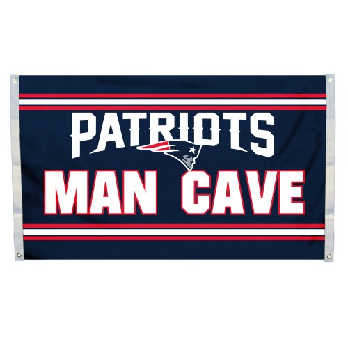 Fremont Die NFL New England Patriots 3' x 5' Flag with Grommets, 3 x 5-Foot, Man Cave