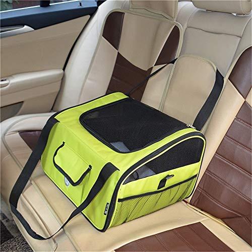 Lichtgewicht kattendraagkist, zachte handtas voor op reis, kinderzitversterker, multifunctioneel van de puppenkooi-draagtas Large groen