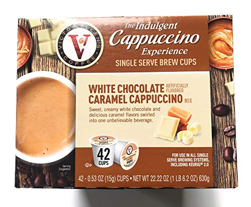 Victor Allen Indulgent White Chocolate Caramel Cappuccino Single Serve Cups - 42 Count