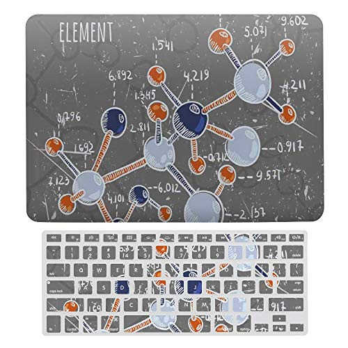 Macbook Air 13 Inch Case(A1369 & A1466, Older Version 2010 2017 Release), Plastic Hard Protective Laptop Case Shell With Keyboard Cover, Grunge Formula Science Graphic