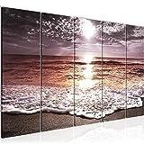 Playa decoración de la pared mesa y Mar - 150 x 60 cm Vista de impresión en lienzo Salón Apartamento - listo para colgar - 600056c
