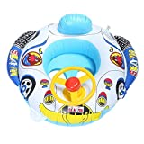 Atyhao Baby Float, Cartoon Car Design Kinder Schwimmring Float Aufblasbarer Pool Swim Ring Sitz für Kleinkind Baby