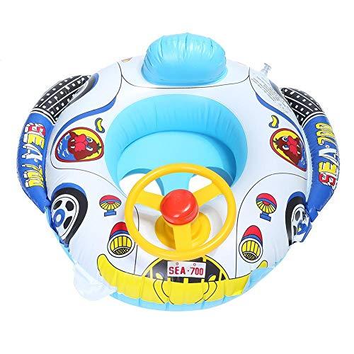 Atyhao Baby Float, Cartoon Car Design Kinder Schwimmring Float Aufblasbarer Pool Swim Ring Sitz für Kleinkind Baby