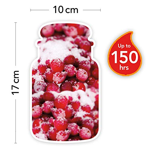 Yankee Candle Cranberry Ice Candele in giara Grande, Rosso, 10.1x9.8x17.7 cm, fragranze naturali