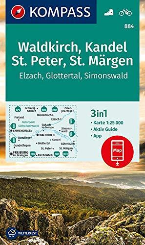 KOMPASS Wanderkarte Waldkirch, Kandel, St.Peter, St. Märgen: 3in1 Wanderkarte 1:25000 mit Aktiv Guide inklusive Karte zur offline Verwendung in der ... (KOMPASS-Wanderkarten, Band 884)