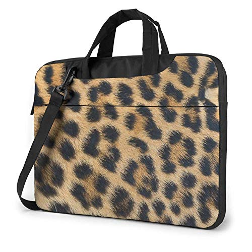 Mochila de Hombro para Ordenador portátil Impermeable Ligera con Estampado de Leopardo Rugoso, maletín con Correa de 15,6″