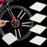 Herefun Ruota Riflettori a Raggi, 48 Pezzi Clip per Raggi Catarifrangenti a 360°, Riflettori per Raggi della Bicicletta, Bici Riflettore per Raggi Realizzato in Materiale ABS (S)